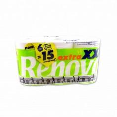 Renova Papel Higiénico Extra XXL 2 Capas -(6 Rollos)