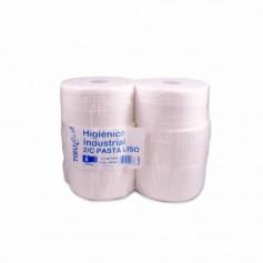 Tisu Cash Papel Higiénico Industrial Pasta Liso 1 Capa - (6 Rollos)