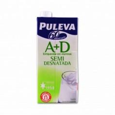 Puleva Leche Semidesnatada A + D - 1L