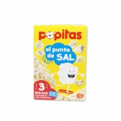 Popitas Palomitas de Maíz al Punto de Sal - (3 Bolsas) - 300g