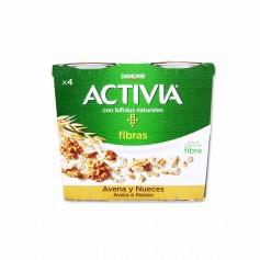 Danone Activia Fibras de Avena y Nueces - (4 Unidades) - 480g