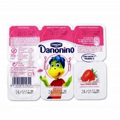Danone Danonino Yogur Semidesnatado con Sabor a Fresa y Nata - (6 Unidades) - 300g