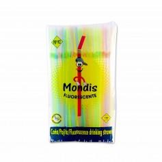 Mondis Pajita Fluorescente - (100 Unidades)