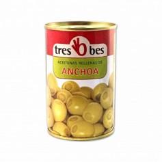 Tres Bes Aceitunas Rellenas de Anchoa - 300g