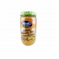 Hero Baby Potito Plátano, Manzana, Pera y Mandarina - 235g