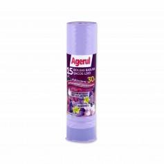 Agerul Bolsas de Basura Perfumadas Antigoteo 30L- (15 Unidades)