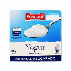 Pascual Yogur Pasteurizado Natural Azucarado - (4 Unidades) - 500g