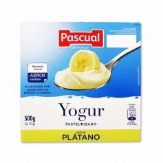 Pascual Yogur Pasteurizado Sabor Plátano - (4 Unidades) - 500g